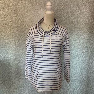 ❤️Calvin Klein White Blue Stripe Quick Dry Top S❤️